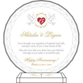 Christian Anniversary Gift Plaque (#162-2)