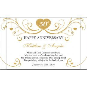 Happy 50th Anniversary Gift for Grandparents (#147-1)