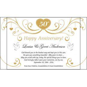 Happy Golden Anniversary Plaque for Parents (#147-2)