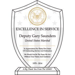 United States Marshal Recognition Plaque Personalized (#510-2)