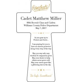 Sheriff's Academy Graduation Gift (#484-2)