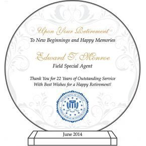 FBI Agent Retirement Plaque (#508-2)