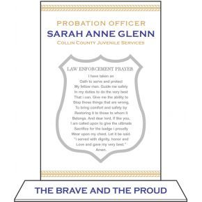 Probation Officer Oath Plaque (#515-1)