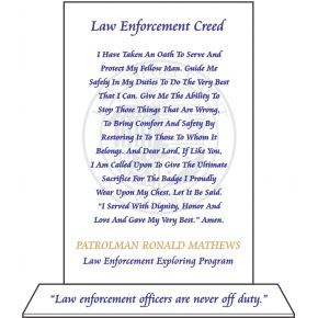 Law Enforcement Creed Plaque (#515-2)