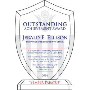 Shield Recognition Plaque (#490-1)