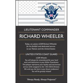 USCG Commander Retirement Plaque (#485-2)