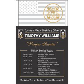 USCG Service Retirement Plaque (#485-3)