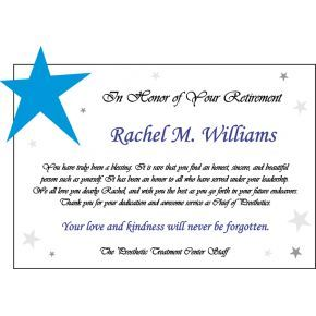 Boss Retirement Star Plaque (#458-3)