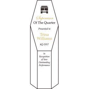 Supervisor of the Quarter Award Plaque (#457-3)