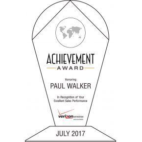 Sales Recognition Achievement Award (#062-3)