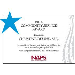 Community Service Appreciation Award (#068-1)