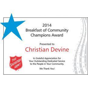Community Champions Award Plaque (#068-2)