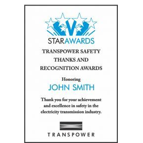 Safety Appreciation Award (#119-4)