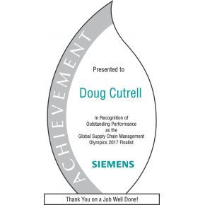 Flame Achievement Award Plaque (#059-1)