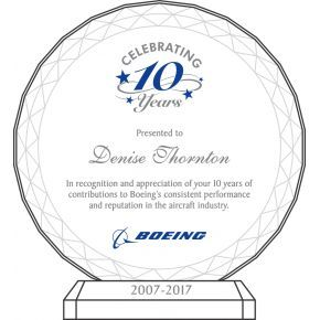 Celebrating 10 Years of Service Award (#002-2) | Wording ...