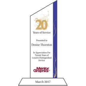 20 Years Service Award Plaque (#010-1)