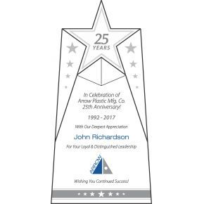 25 Years Corporate Anniversary Award (#356-4)
