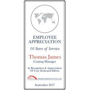 Employee Appreciation Service Award (#027-3)