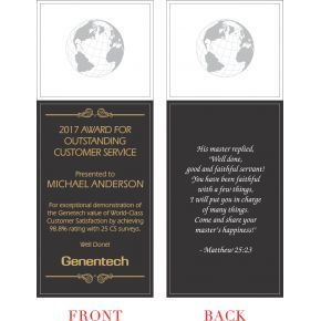 Outstanding Customer Service Award Wording (#226-2)
