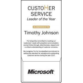 Customer Service Leader of the Year Award (#516-1)