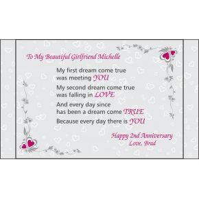 2nd Anniversary Gift for Girlfriend (#149-4)