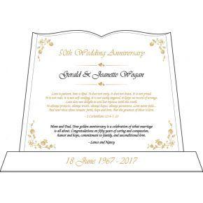 Bible Anniversary Plaque for Parents (#142-3)