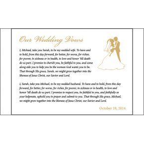 Religious Wedding Vows Gift (#143-3)
