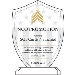 Army Recognition Quote for Promotion (#322-5)