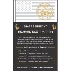 Army Sergeant Retirement Service Award (#325-4)
